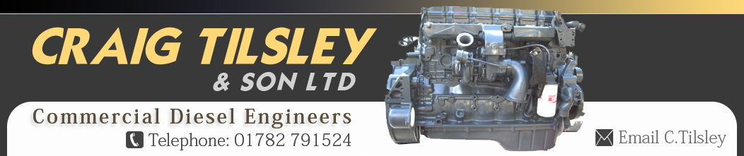 Craig Tilsley Supplier of Bus, Coach, Truck Plant Industrial and Marine Reconditioned Diesel engines and components for Diesel Engines Cummins DAF Iveco Leyland, Mercedes Paccar Scania AEC Volvo